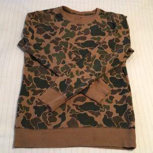 Men's Camo Crew Neck Sweatshirt!